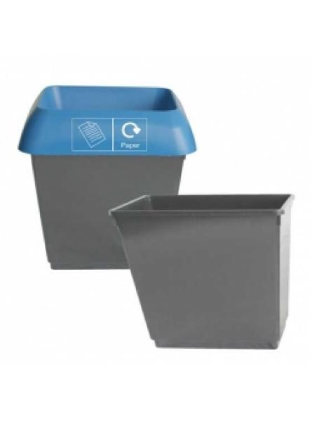 30 LITRE WASTEBASKET DARK GREY PLASTIC base only